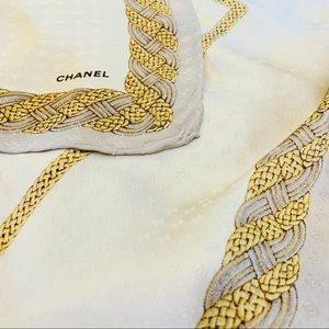 Chanel silk large square scarf